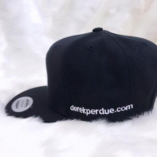 DP Black Snapback with White logo- Profile