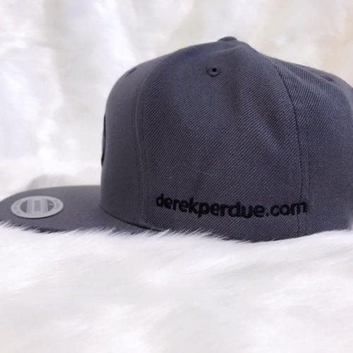 DP Gray Snapback with Black logo- Profile