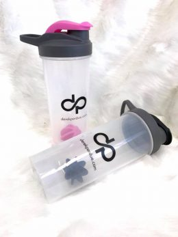 DP 24oz Plastic Shaker Cup with Mixer