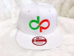 DP 9Fifty White Snapback and color logo- Front