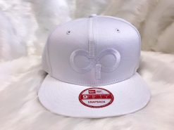 DP 9Fifty White on White Snapback- Front