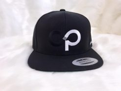 DP Black Snapback with White logo- Front