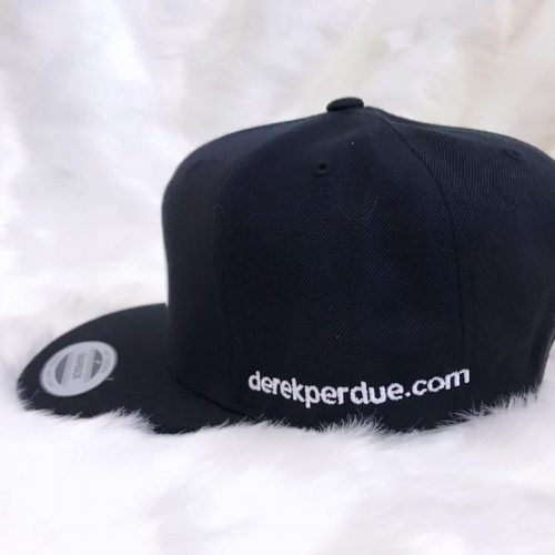 DP Black Snapback with White logo- Profile