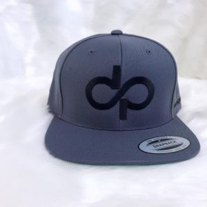 DP Gray Snapback with Black logo- Front